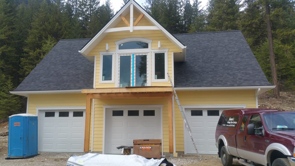 Installing Doors for a Three Car Garage
