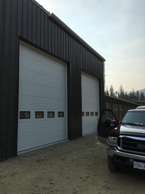 White Commercial Garage Door
