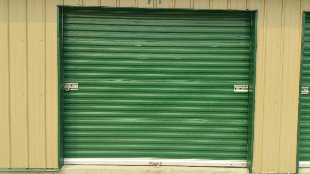 Green Rolling Sheet Metal Door